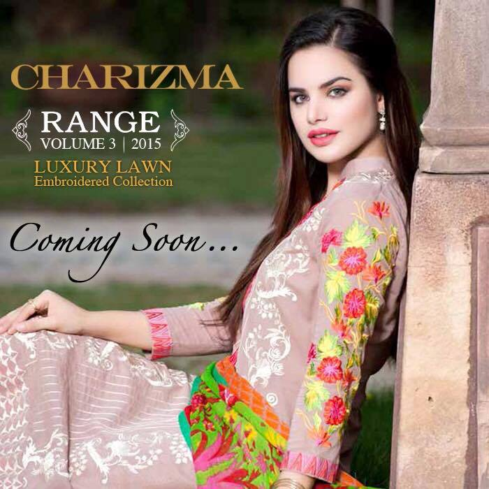 Charizma Luxury Embroidered Lawn Dresses Collection 2015 (6)
