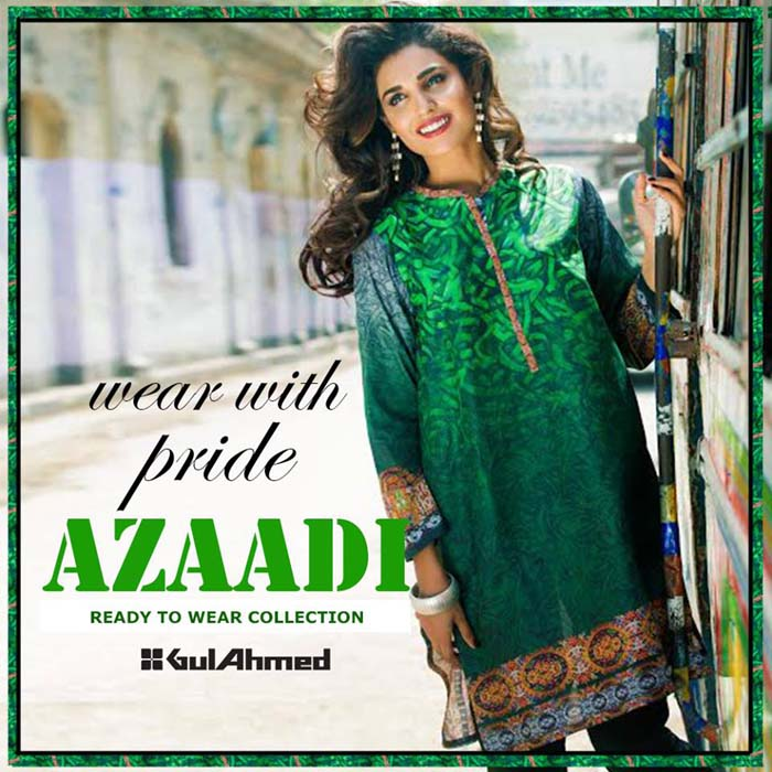 Gul Ahmed Azadi Independence Day Dresses for Women 2015-2016 (1)