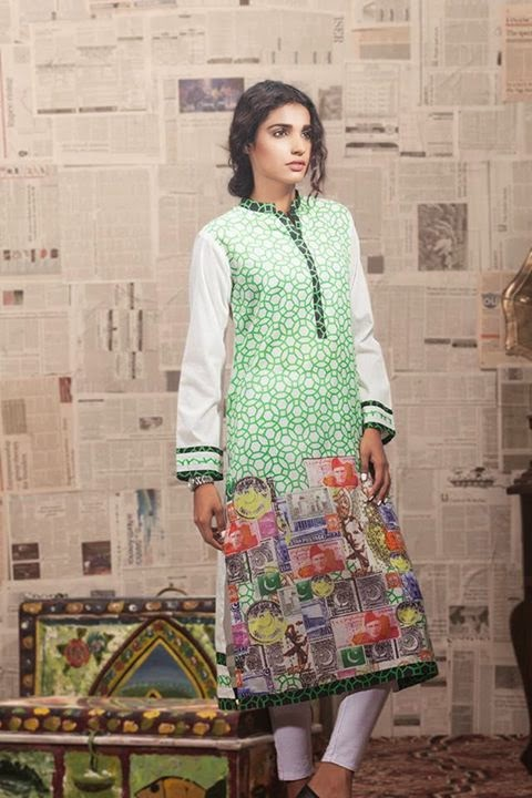 Gul Ahmed Azadi Independence Day Dresses for Women 2015-2016 (3)