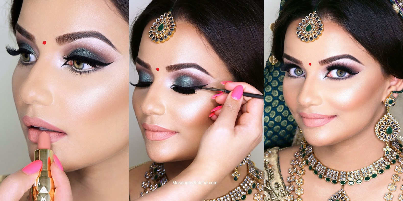 How To Do Bridal Makeup Base : Indian Bridal Wedding Makeup Step by Step Tutorial with ...