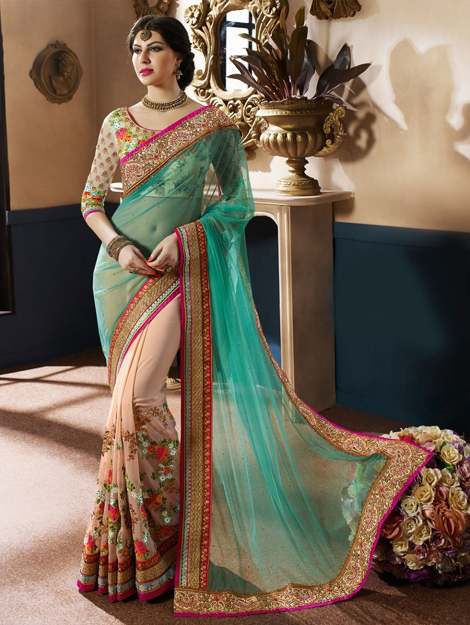 latest indian wedding sarees - photo #24
