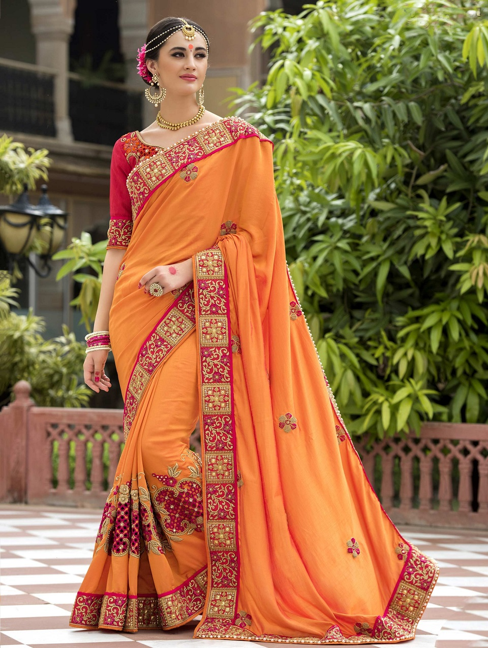 Nice Latest Designs Of Houses In India #3: Indian-Wedding-Saree-Latest-Designs-Trends-Collection-2017-2018-16.jpg