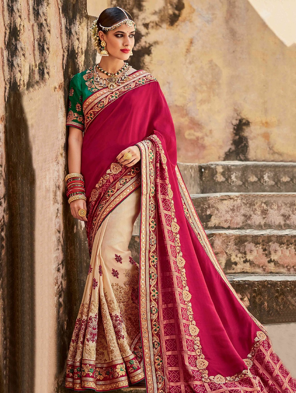 Indian Wedding Saree Latest Designs & Trends 2018-2019 Collection