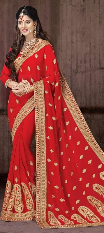 Latest Indian Bridal Wedding Saree Designs Collection 2015-2016 (11)