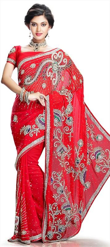 Latest Indian Bridal Wedding Saree Designs Collection 2015-2016 (12)