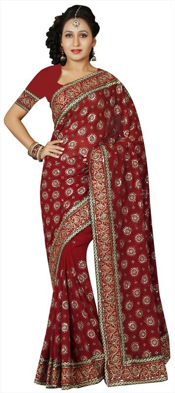 Latest Indian Bridal Wedding Saree Designs Collection 2015-2016 (13)