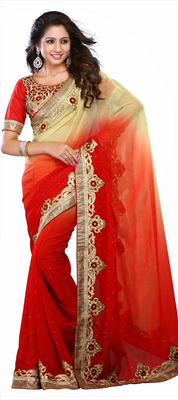Latest Indian Bridal Wedding Saree Designs Collection 2015-2016 (14)