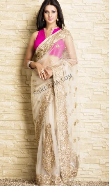 Latest Indian Bridal Wedding Saree Designs Collection 2015-2016 (16)