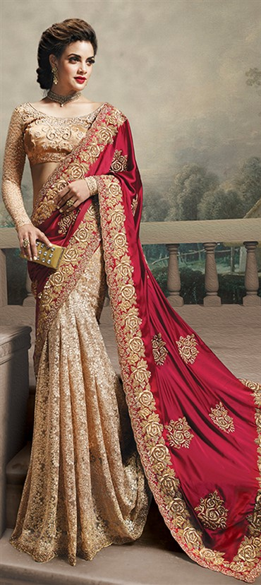 Latest Indian Bridal Wedding Saree Designs Collection 2015-2016 (2)