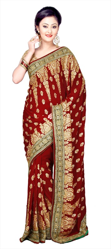 Latest Indian Bridal Wedding Saree Designs Collection 2015-2016 (3)