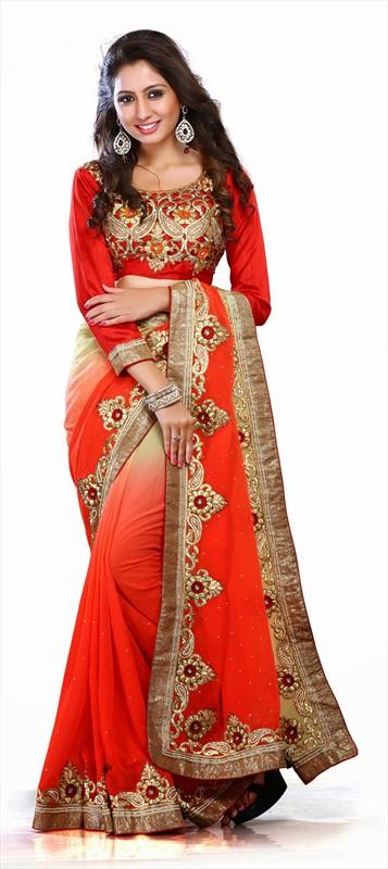 Latest Indian Bridal Wedding Saree Designs Collection 2015-2016 (4)