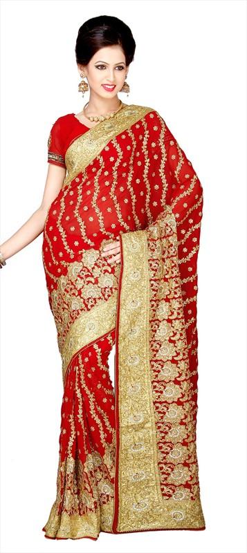 Latest Indian Bridal Wedding Saree Designs Collection 2015-2016 (5)