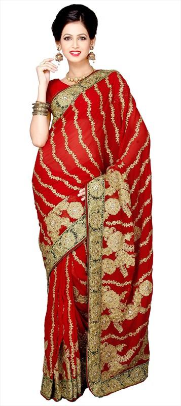 Latest Indian Bridal Wedding Saree Designs Collection 2015-2016 (6)