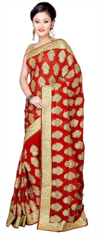 Latest Indian Bridal Wedding Saree Designs Collection 2015-2016 (8)
