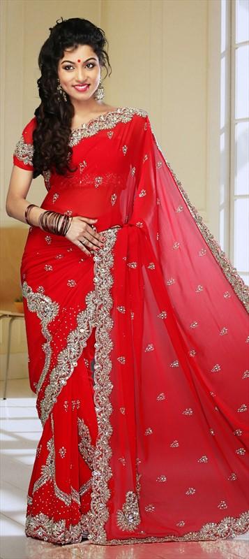 Latest Indian Bridal Wedding Saree Designs Collection 2015-2016 (9)
