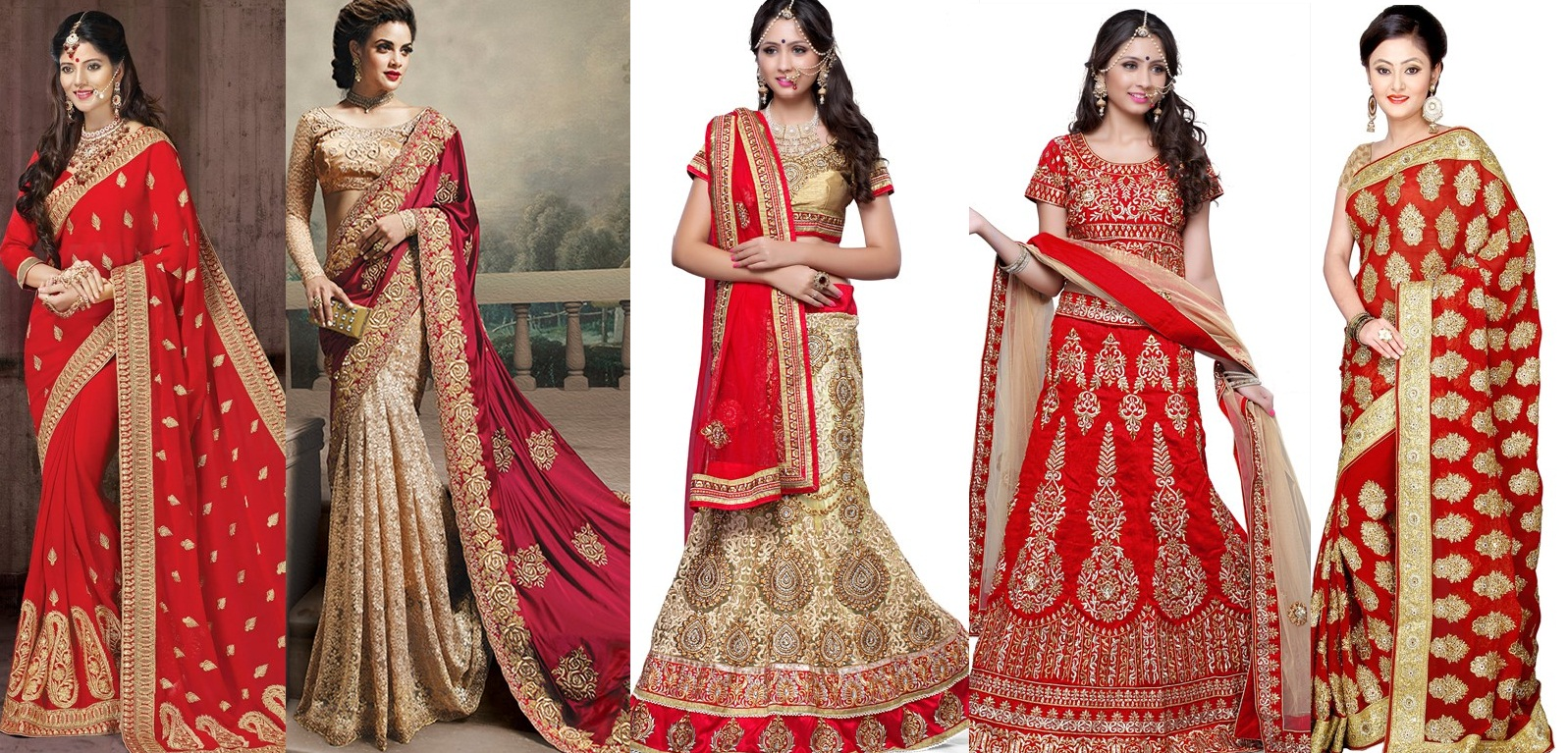 Latest indian bridal dresses collection 2015 2016 for Indian wedding dresses online india