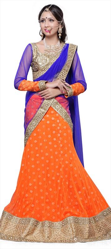 Latest Indian Bridal wedding Lehenga Choli Dresses 2015-2016 (1)