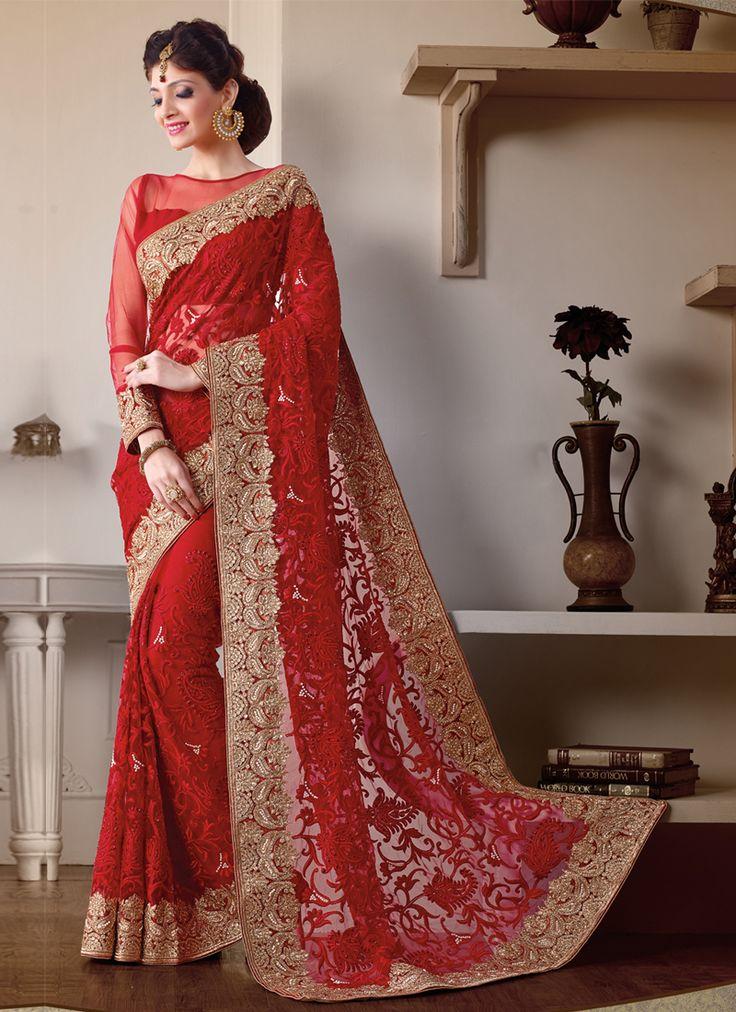 latest indian wedding sarees - photo #16