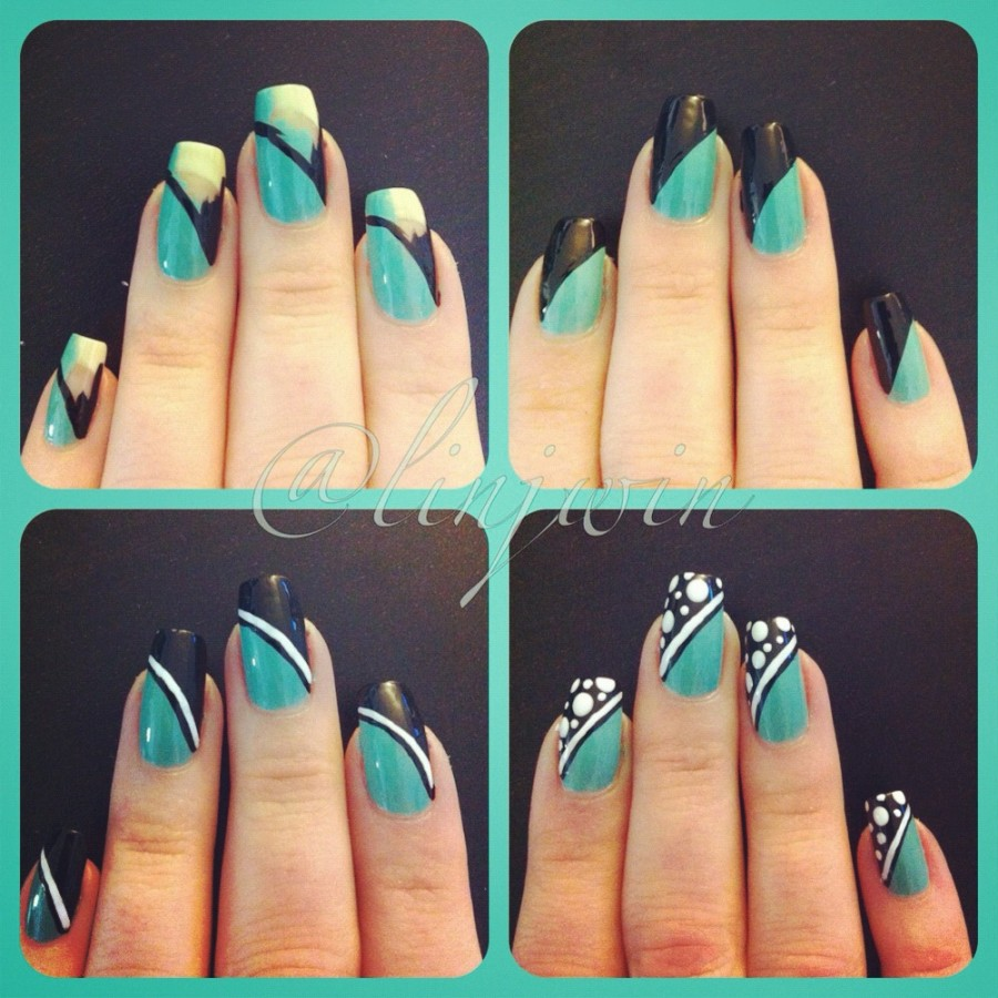 Nail Designs Lines Dots: Best images about manis try dots polka dot ...