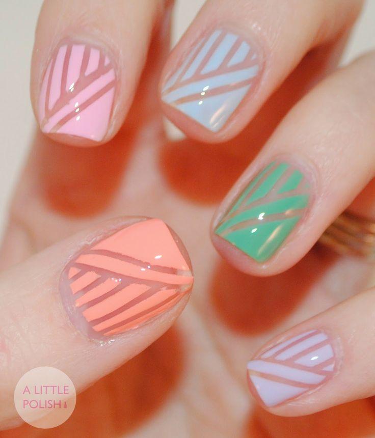 Lines And Polka Dot Nail Arts Designs Tutorials 2 Stylesgap