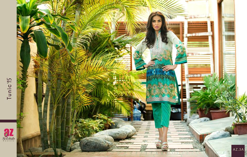Maheen Tunics Collection 2015-2016 by Al-Zohaib Textiles (10)