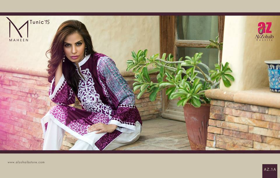 Maheen Tunics Collection 2015-2016 by Al-Zohaib Textiles (13)