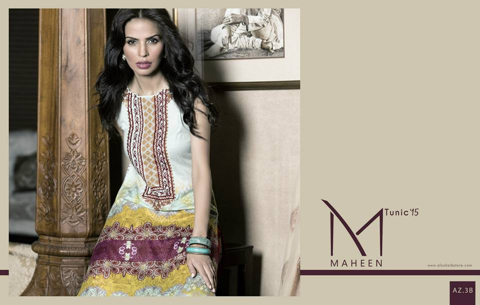 Maheen Tunics Collection 2015-2016 by Al-Zohaib Textiles (18)