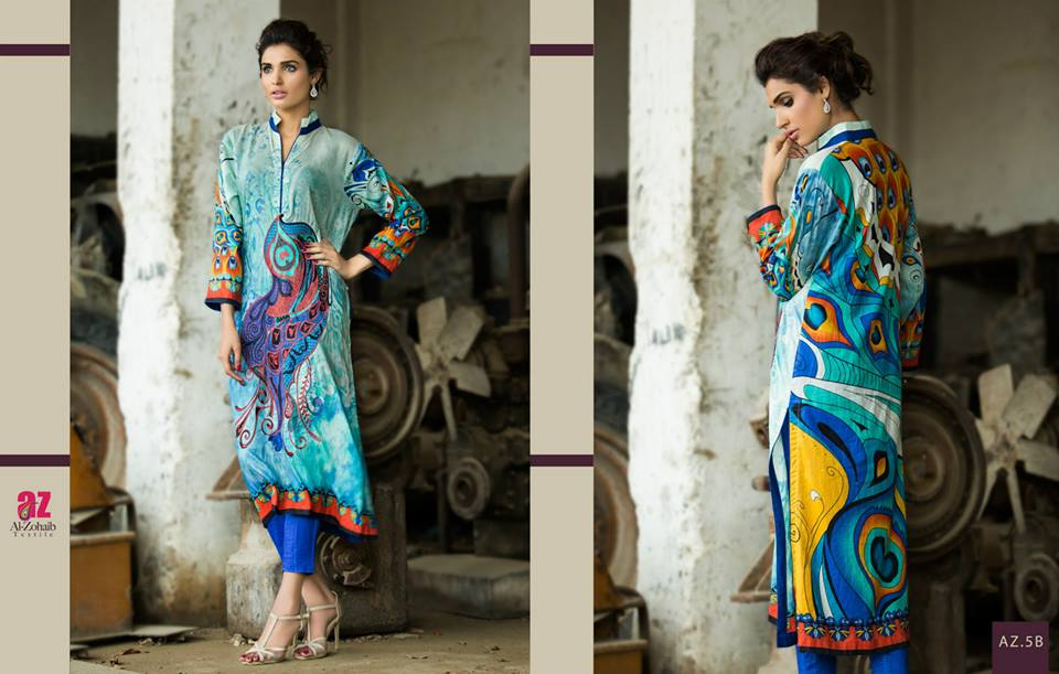 Maheen Tunics Collection 2015-2016 by Al-Zohaib Textiles (2)