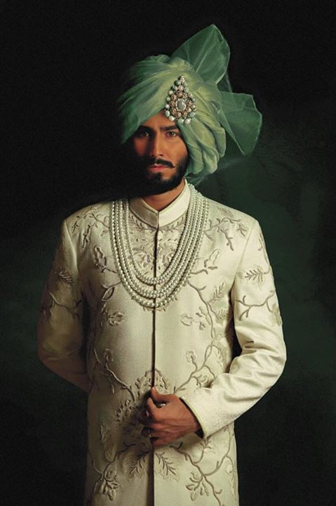 Nauman Arfeen Groom Wedding Sherwani Collection 2015-2016 (1)
