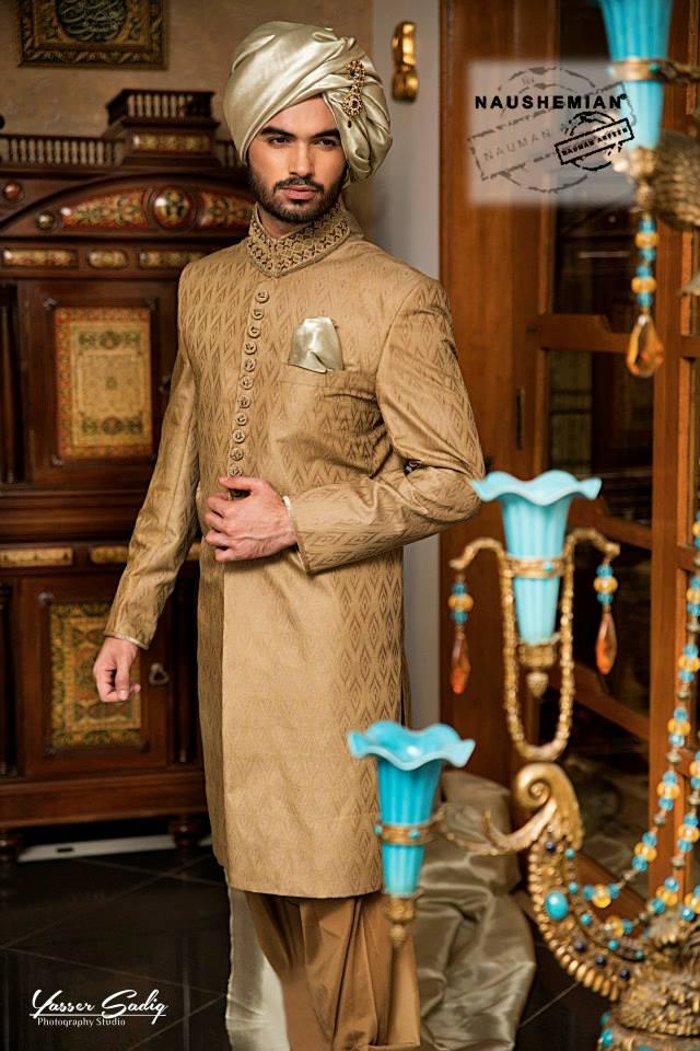 Nauman Arfeen Groom Wedding Sherwani Collection 2015-2016 (10)