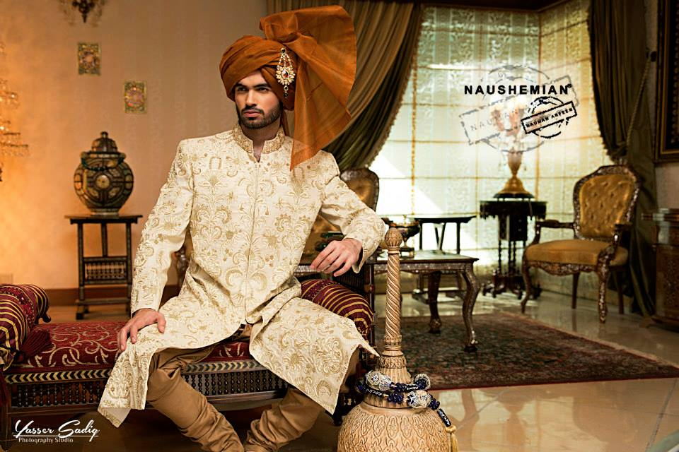 Nauman Arfeen Groom Wedding Sherwani Collection 2015-2016 (12)