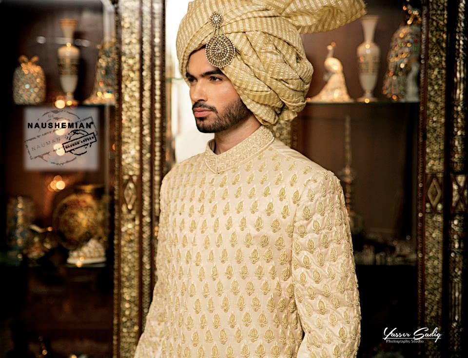 Nauman Arfeen Groom Wedding Sherwani Collection 2015-2016 (13)