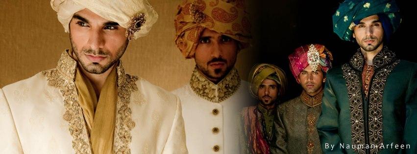 Nauman Arfeen Groom Wedding Sherwani Collection 2015-2016 (18)