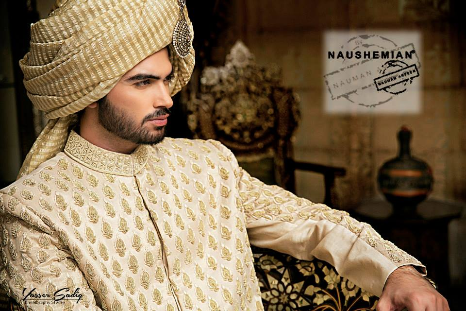Nauman Arfeen Groom Wedding Sherwani Collection 2015-2016 (2)