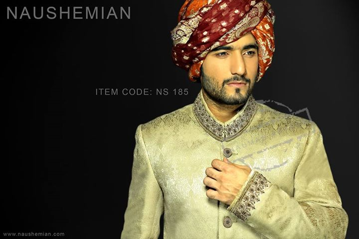 Nauman Arfeen Groom Wedding Sherwani Collection 2015-2016 (20)