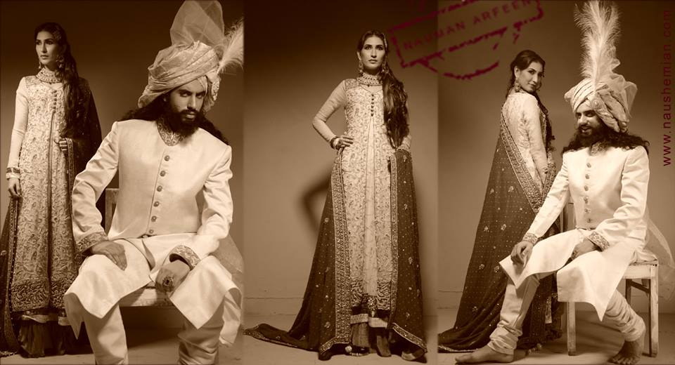 Nauman Arfeen Groom Wedding Sherwani Collection 2015-2016 (21)