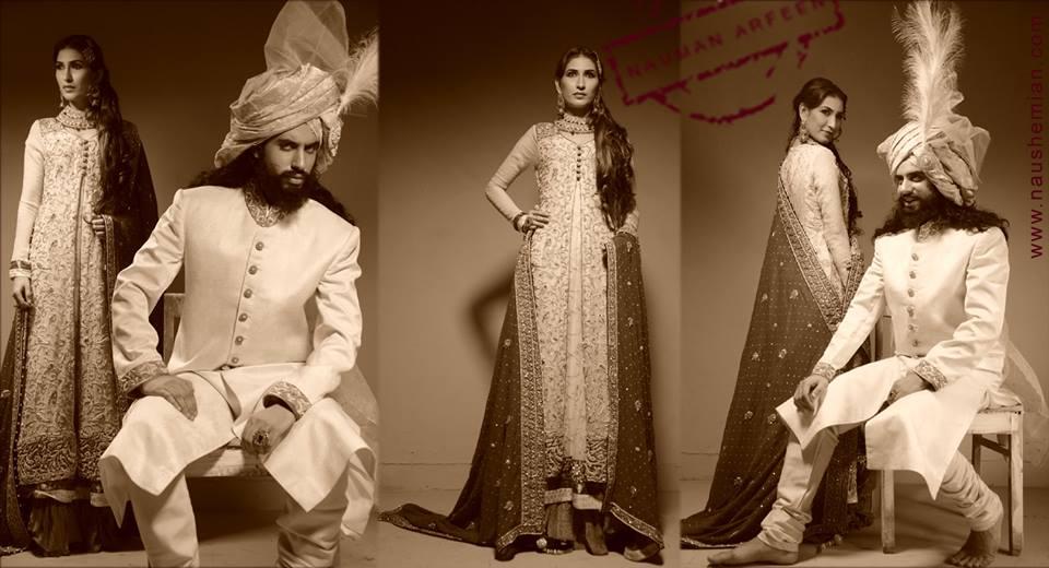 Nauman Arfeen Groom Wedding Sherwani Collection 2015-2016 (21)