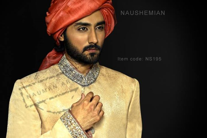 Nauman Arfeen Groom Wedding Sherwani Collection 2015-2016 (22)