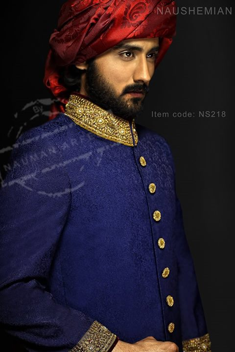 Nauman Arfeen Groom Wedding Sherwani Collection 2015-2016 (23)