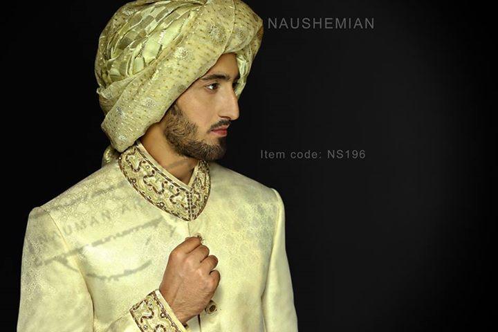Nauman Arfeen Groom Wedding Sherwani Collection 2015-2016 (24)
