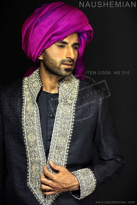 Nauman Arfeen Groom Wedding Sherwani Collection 2015-2016 (25)