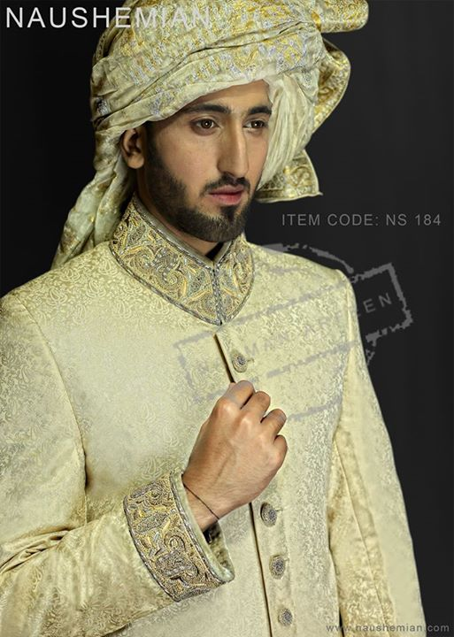 Nauman Arfeen Groom Wedding Sherwani Collection 2015-2016 (26)