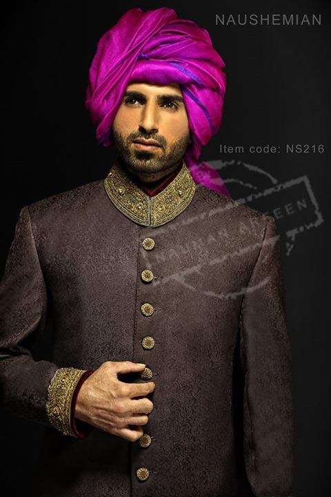 Nauman Arfeen Groom Wedding Sherwani Collection 2015-2016 (27)