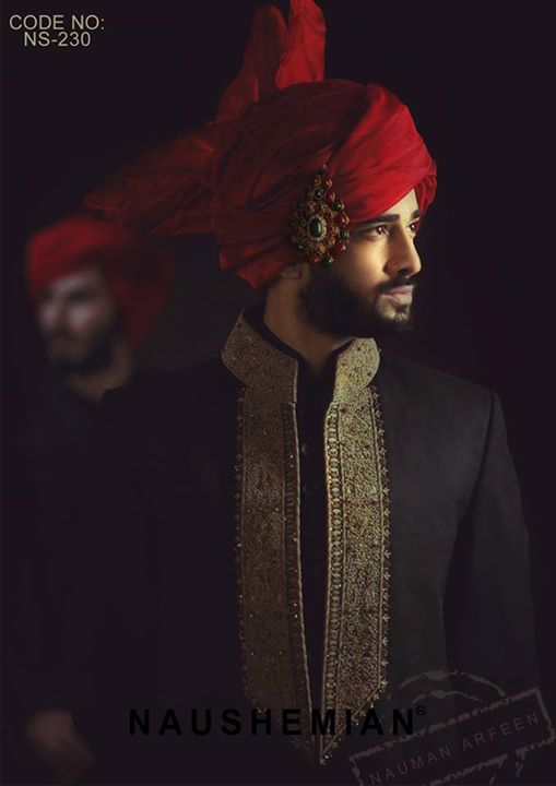 Nauman Arfeen Groom Wedding Sherwani Collection 2015-2016 (29)
