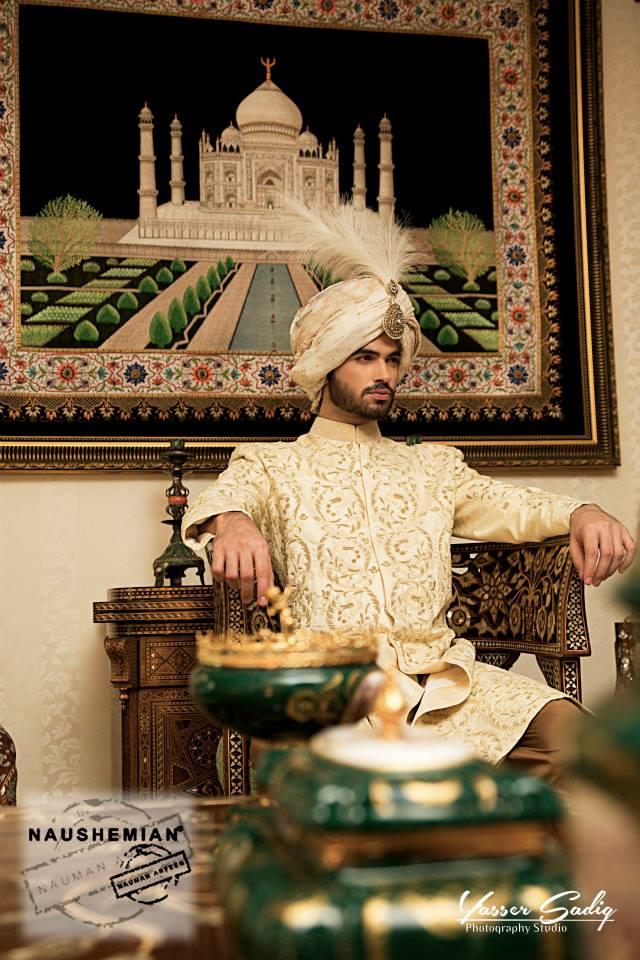Nauman Arfeen Groom Wedding Sherwani Collection 2015-2016 (4)