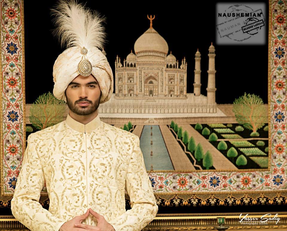 Nauman Arfeen Groom Wedding Sherwani Collection 2015-2016 (6)