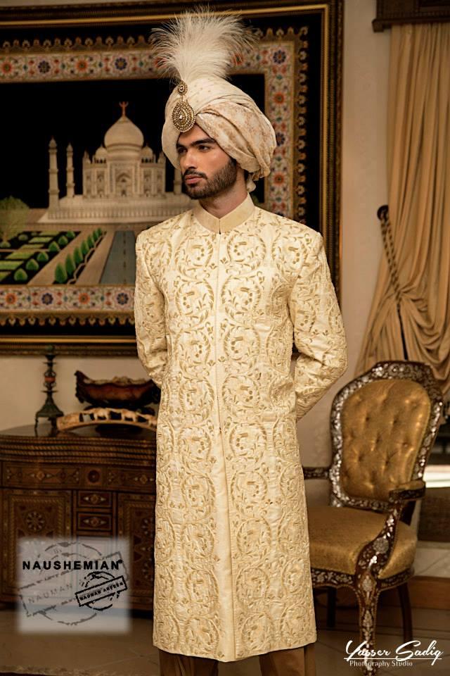 Nauman Arfeen Groom Wedding Sherwani Collection 2015-2016 (7)