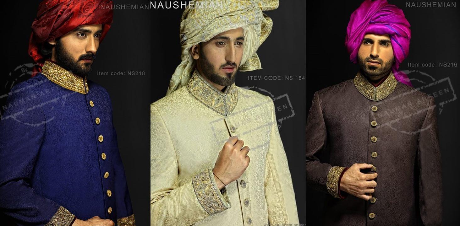 Nauman Arfeen Groom Wedding Sherwani Collection 2015-2016
