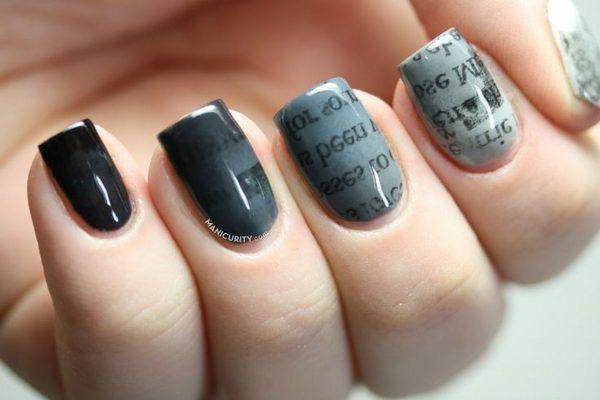 Newspaper Nail Art Designs Tutorials 9 Stylesgap