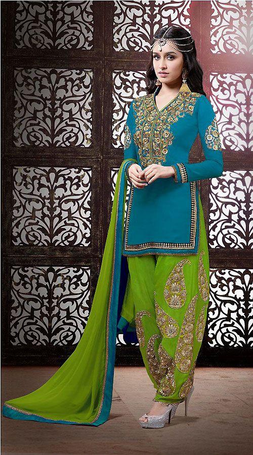 Punjabi Suits Latest Indian patiala Shalwar Kameez Collection 2015-2016 (17)